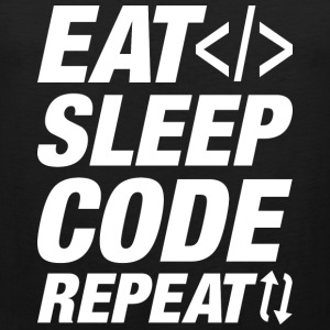 Eat Sleep Code Repeat - Men's Premium Tank