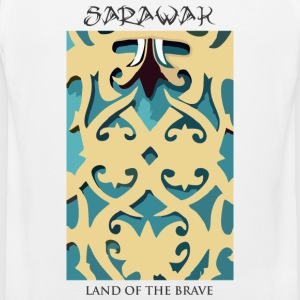 Sarawak Iban Engraving White Mens T Shirt - Men's Premium Tank