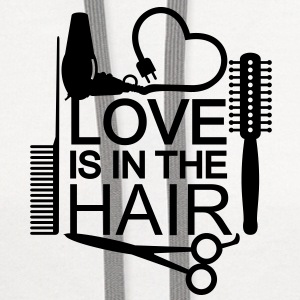 Love is in the hair (1c) T-Shirts - Contrast Hoodie