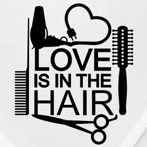 Love is in the hair (1c) T-Shirts - Bandana