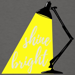 Table Lamp Calligraphy Shine Bright 3c Aprons - Men's T-Shirt