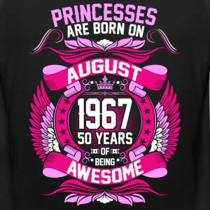 Princesses Are Born On August 1967 50 Years T-Shirts - Men's Premium Tank