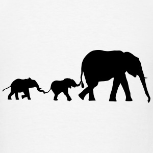 elephant family, elephants Hoodies - Men's T-Shirt