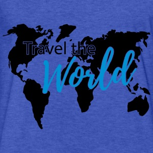 Travel the World Map Worldmap Hoodies - Fitted Cotton/Poly T-Shirt by Next Level