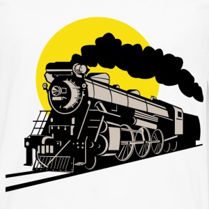 steam locomotive - Men's Premium Long Sleeve T-Shirt