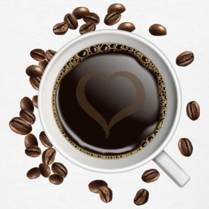 Cup of coffee and heart - Men's T-Shirt