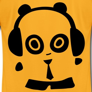 Headphones Panda Bags  - Men's T-Shirt by American Apparel