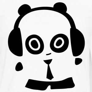 Headphones Panda T-Shirts - Men's Premium Long Sleeve T-Shirt