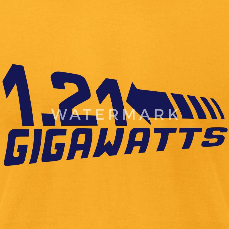 1.21 Gigawatts - Men's T-Shirt by American Apparel