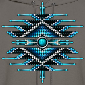 Native American Beadwork 28 - Men's Hoodie