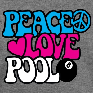 Peace Love Pool - Women's Wideneck Sweatshirt