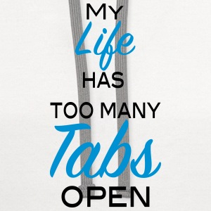 My life has too many tabs open 2c Kids' Shirts - Contrast Hoodie