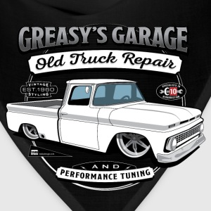 Greasy's Garage Old Truck Repair Apron - Bandana