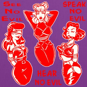 Sexy Bondage See No Evil Hear No Evil Speak No Evi - Tote Bag