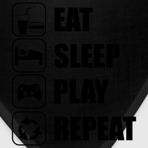 Eat,sleep,play,repeat,geek,gaming,gamer - Bandana