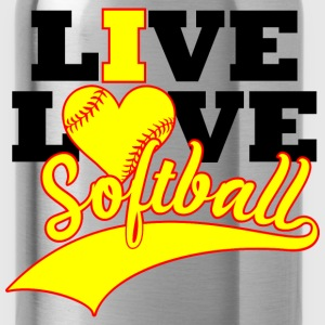 Live Love Softball T-Shirts - Water Bottle