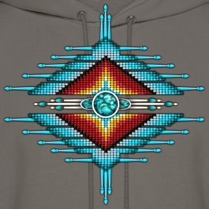 Native American Beadwork 32 - Men's Hoodie