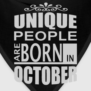 born in october T-Shirts - Bandana