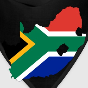 South Africa Flag Map With Stroke - Bandana