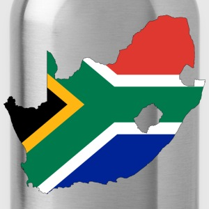 South Africa Flag Map With Stroke - Water Bottle