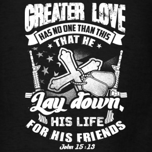 Greater love has no one than this quote Bags & backpacks - Men's T-Shirt