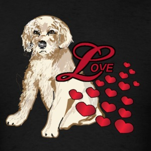 Love A Golden Retriever Puppy - Men's T-Shirt