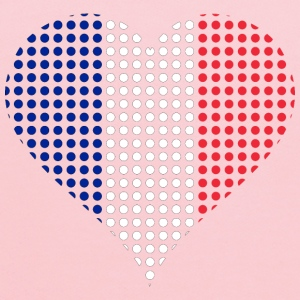 Heart France Flag Circles Stroked - Kids' Hoodie