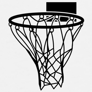 Basketball or Netball hoop net Gift - Men's Premium T-Shirt