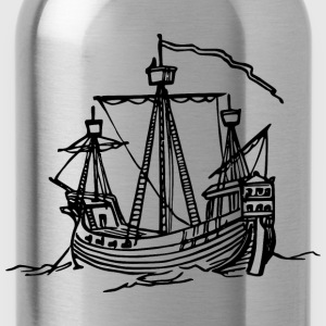 15th century ship - Water Bottle