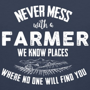 Farmer Never mess T-Shirts - Men's Premium Tank