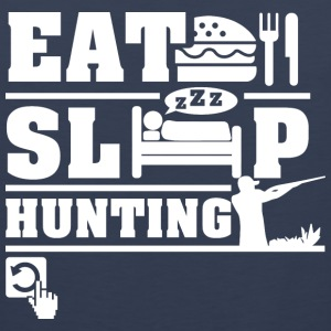 Hunting Eat Sleep Repeat T-Shirts - Men's Premium Tank
