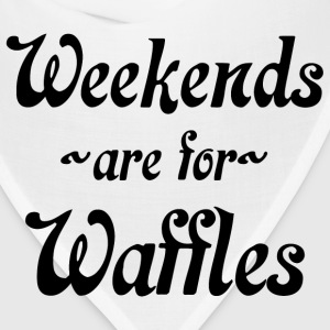 weekends are for waffles toddler - Bandana