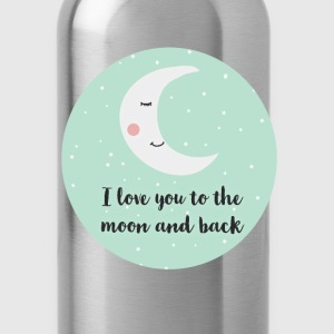 i_love_you_to_the_moon_and_back_a5 Baby Bodysuits - Water Bottle