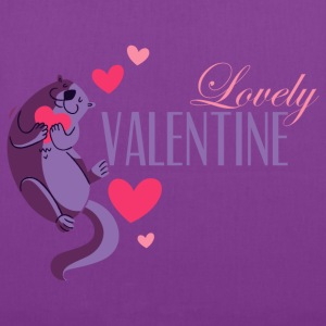 love_beaver_valentine_08201602 T-Shirts - Tote Bag