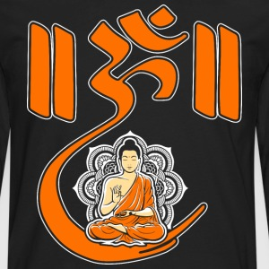 Om Lotus Buddhism Yoga Meditation Spiritual T-Shirts - Men's Premium Long Sleeve T-Shirt