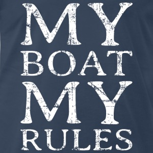 My Boat my Rules Vintage White Sportswear - Men's Premium T-Shirt