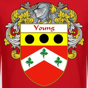 Young Coat of Arms/Family Crest T-Shirts - Crewneck Sweatshirt