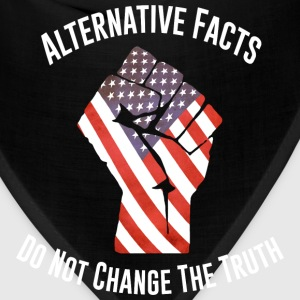 March For Truth Alternative Facts Quote  T-Shirts - Bandana
