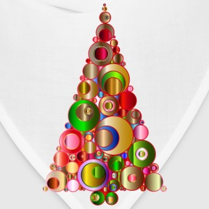 Colorful Abstract Circles Christmas Tree 2 - Bandana