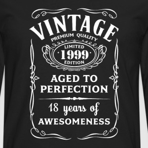 Vintage Limited 1999 Edition - 18th Birthday Gift - Men's Premium Long Sleeve T-Shirt