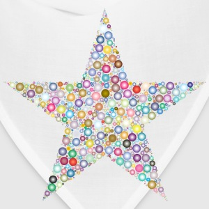Colorful Circles Star 3 - Bandana