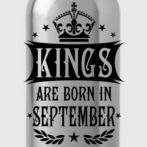 Kings are born in September King Birthday T-Shirt - Water Bottle