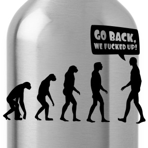 evolution fucked up T-Shirts - Water Bottle