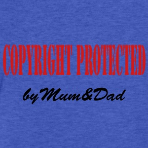 copyright protected by mum and dad Sweatshirts - Fitted Cotton/Poly T-Shirt by Next Level