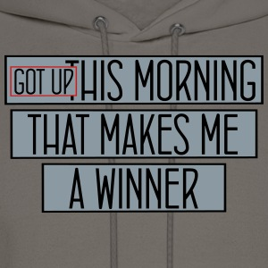 got up this morning_vec_3 us T-Shirts - Men's Hoodie