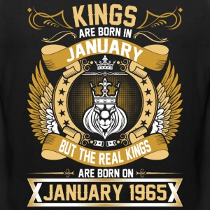 The Real Kings Are Born On January 1965 T-Shirts - Men's Premium Tank