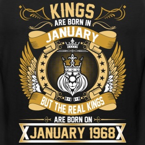 The Real Kings Are Born On January 1968 T-Shirts - Men's Premium Tank