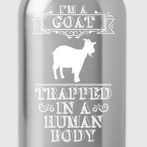 I'm a Goat Trapped in a Human Body Animal Lover  T-Shirts - Water Bottle
