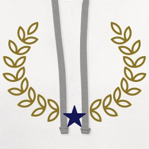 Champion Wreath, Star, Winner, Team, Number One T-Shirts - Contrast Hoodie