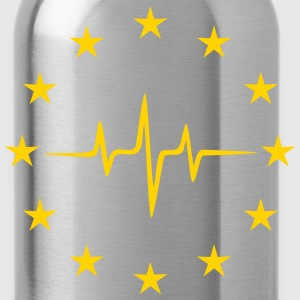 Pulse of Europe, EU Frequency, European Union Flag T-Shirts - Water Bottle